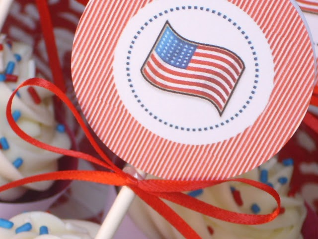 flag cupcake topper printable