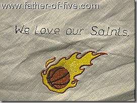 We Love our Saints Baskeball team Hankie