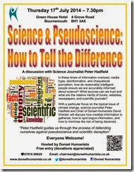 Science & Pseudoscience 17th July 2014