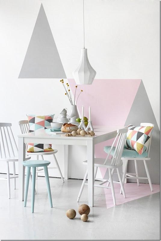case e interni - tendenza decorazione  triangoli - Triangles 1