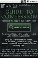 Screenshot of Guide to Confession