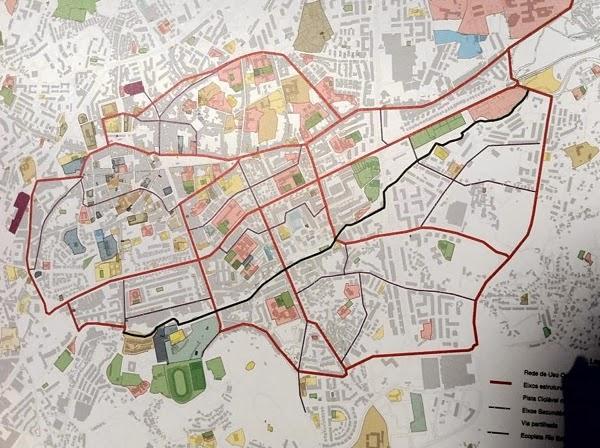 Mapa PDM Rede Ciclável Braga 2013