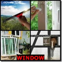 WINDOW- 4 Pics 1 Word Answers 3 Letters