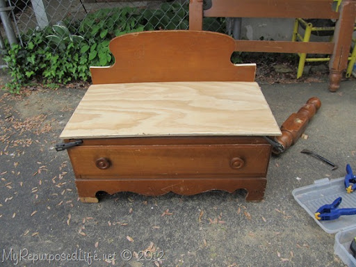 Chest of Drawers into Bench (16)