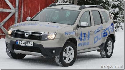 Dacia Duster in Noorwegen