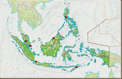 Martime Southeast Asia (in dark green)