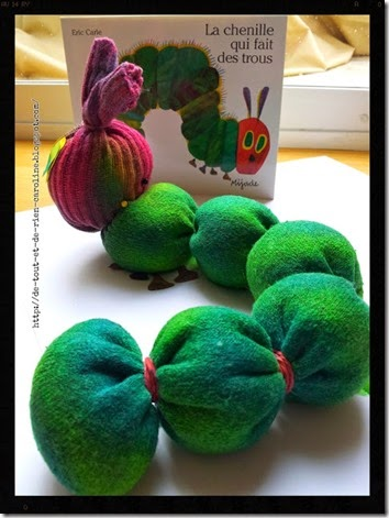 very hungry caterpillar no sew sock craft for kids