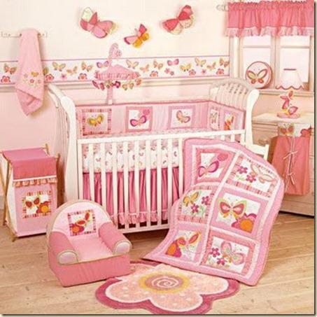 decoracion de dormitorio de bebe niña-j