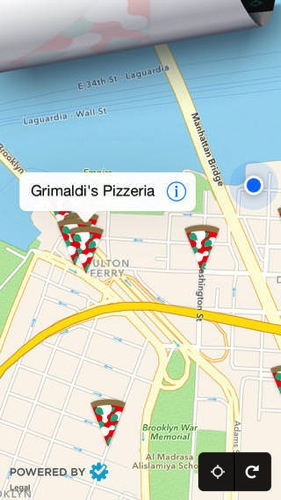 Pizza compass nearest discover around ios3