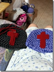 hats with crosses