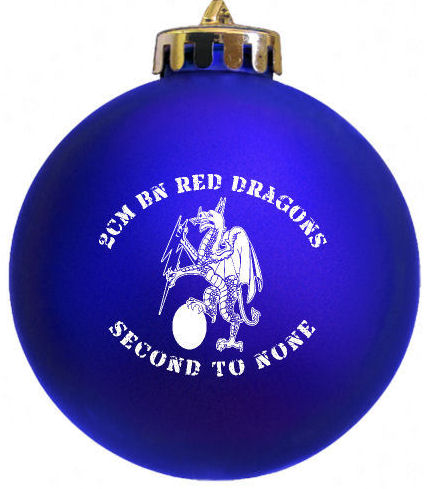 2CM BN RED DRAGONS Logo Christmas Ornament designed and produced for a customer at http://www.fundraisingornaments.com