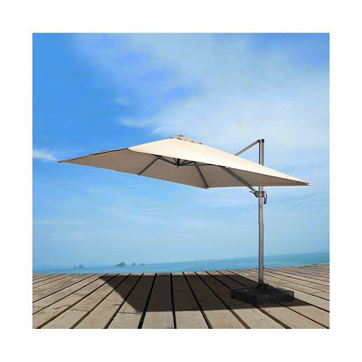Patio Umbrella with Base<br /><br />Modern patio umbrella with base. Flexible construction for easy maneuverability. Features an adjustable lever to alter the umbrella's height. Innovative elegant design and style. Innovatively designed, this modern outdoor umbrella with sturdy base will make you to enjoy longer hours in your patio or garden or the poolside. It is equipped with an adjustable lever so you can alter its height. This discount outdoor furniture will be a stunning sight in your patio.<br /><br />http://www.modernpatiostore.com/store/outdoor-bar-sets/patio-umbrella-with-base-detail.html