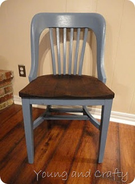 Painted and stained wood chair