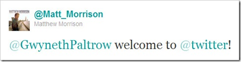 Twitter - @Matthew Morrison- @GwynethPaltrow welcome to ...