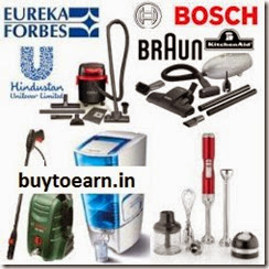Braun, Bosch, Eureka Forbes, HUL & KitchenAid Appliances upto 42% off + 10% off or upto Rs. 3000 off at Amazon