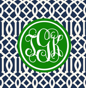 Trellis Coasters_Navy and Green_tGk