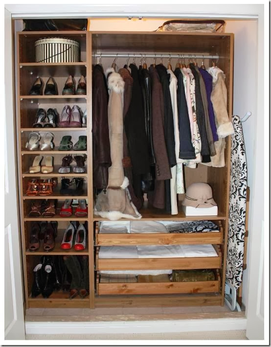 Blogger s share their best organizing tip s part iv for Ikea pax closet system
