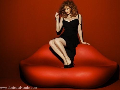 Christina Hendricks linda sensual sexy sedutora decote peito desbaratinando (49)
