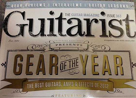 Guitarist gearyear2012