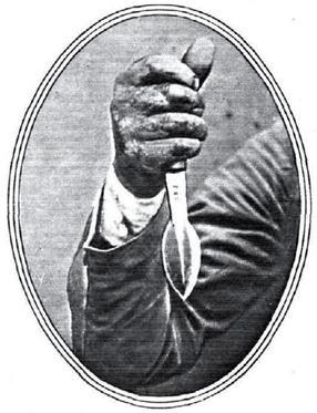 1930-05-13 (Estampa) Modo de empuñar el cachete