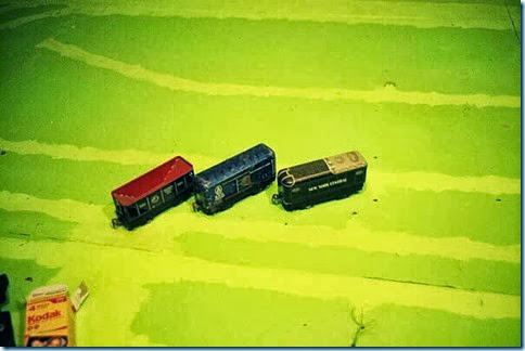 Marx #554 6-in NP Hopper Car & #384299 6-in  B&O Boxcar & W