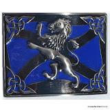 """""""Lion Rampant and Saltire"""" Kilt Belt Buckle #2"""