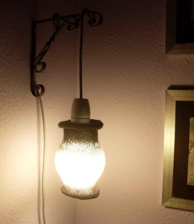 Lampe med sok