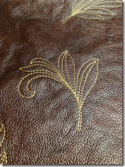 Embroidery on leather