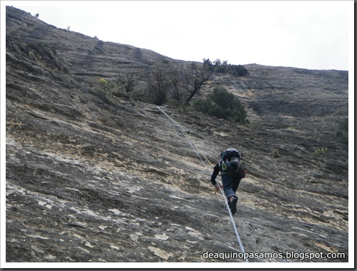 Via Gali-Molero 500m 6b  Ae (V  A1 Oblig) (Roca Regina, Terradets) (Isra) 9846