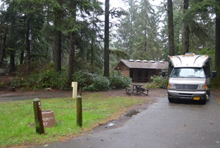 Site 87 in loop I at Fort Stevens state park