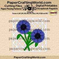 cornflower card ppr-cf-200
