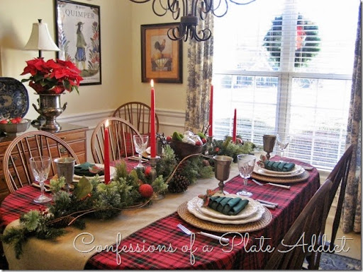 CONFESSIONS OF A PLATE ADDICT: Pewter and Plaid Christmas ...