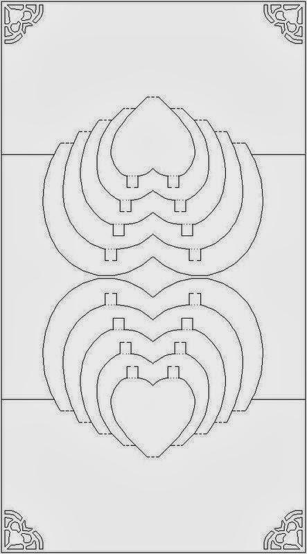 Объемные открытки своими руками шаблоны схемы