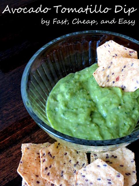 avocado tomatillo dip sauce