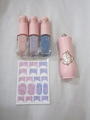 princess etoinette nail polish set and lipstick, bitsandtreats