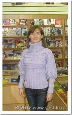 "Модель на вилке от Yoshta для ""Popular knitting"""