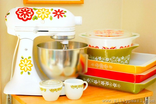 Vintage Pyrex Inspired Mixer Decals by The Silly Pearl