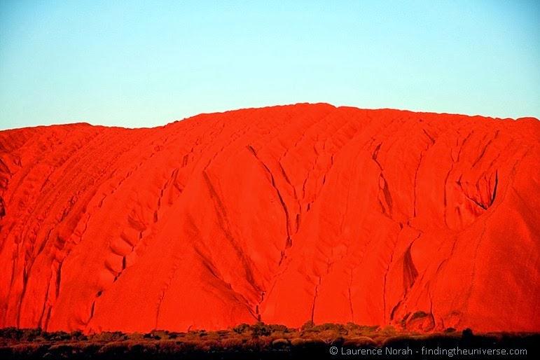 Uluru-Ausschnitt bei Sonnenuntergang - Australien