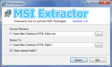MSI Extractor to Unpack MSI File