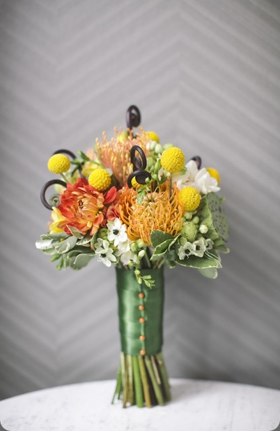 Beautiful-Blooms-Orange-Yellow-Green-Bouquet Love Me Do photo