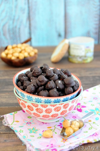Dark Chocolate Covered Hazelnut with Fleur de Sel