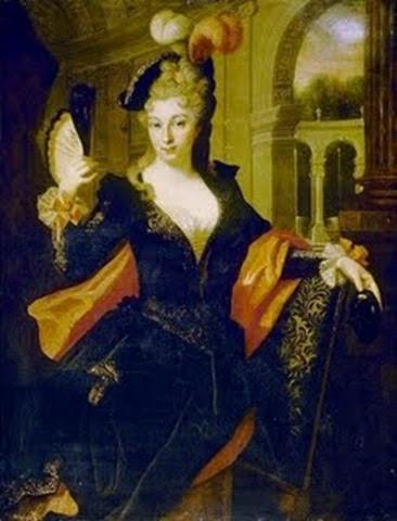 Luisa de La Vallière con traje de amazona
