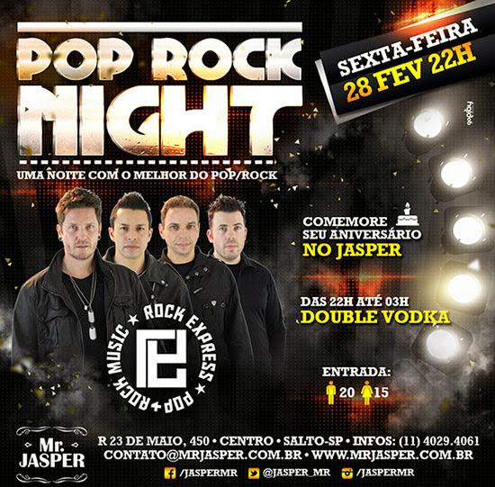 Rock Express é a atração de sexta, dia 28, no Mr. Jasper em Salto