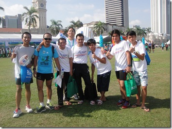 With fellow Sabahan Runners