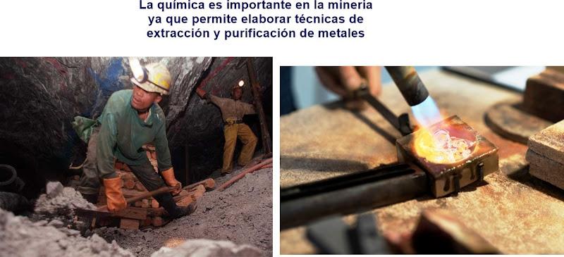 La quimica y su importancia en la mineria