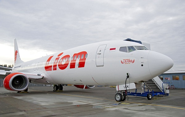 Lion Air's 7,370th 737 at Boeing Field in Seattle, WA.