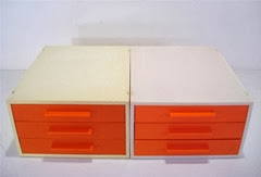 orange face drawers stacking mechanism