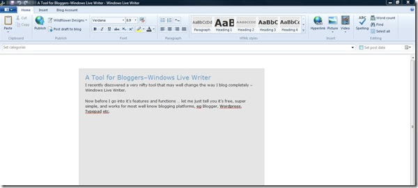 A Tool for Bloggers–Windows Live Writer - Windows Live Writer_2011-10-28_22-55-12