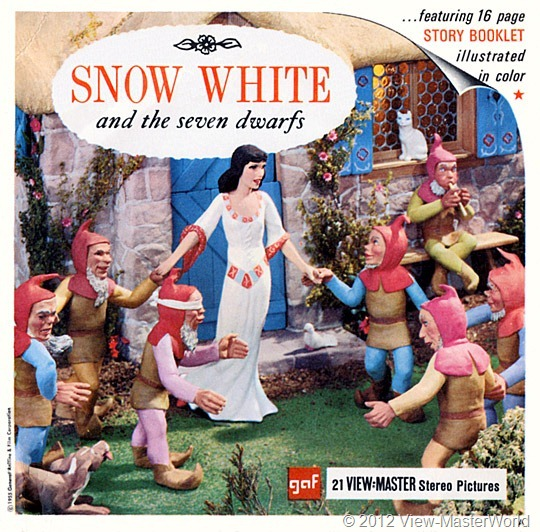 View-Master Snow White and the Seven Dwarfs (B300), packet cover