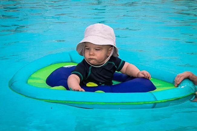 11 - first swim